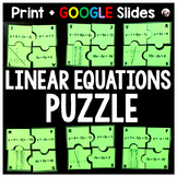 Linear Equations Puzzle - print & GOOGLE Slides for distance learning