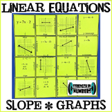 Linear Equations Puzzle (Slope, Graphs, Intercepts, Writin