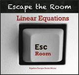 Linear Equations Activity QR Code Escape Room