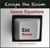 Linear Equations Activity QR Code Escape Room