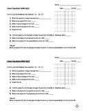 Linear Equations Quiz