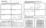 Linear Equations Quiz Review Worksheet Slope Graphing Slope Intercept
