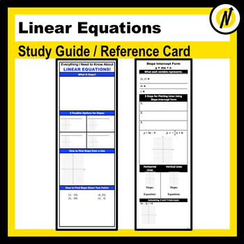 Equations Reference Worksheets & Teaching Resources | TpT