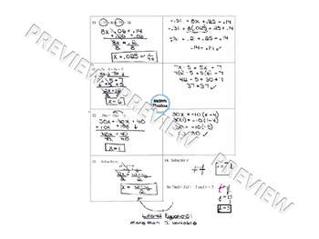 Solving Linear Equations 2 Day Review