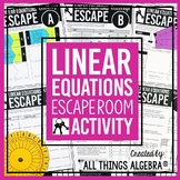 Linear Equations Review - Escape Room Activity