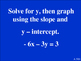 Linear Equations Review - Jeopardy
