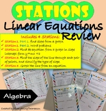 Linear Equations Review - Stations Activity