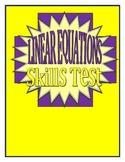 Linear Equations Skills Test