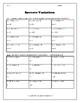 Solving Inverse Variation Problems Worksheet