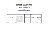 Linear Equations: Sort Match