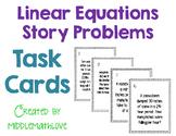 Linear Equations Story Problem Task Cards (Slope Intercept