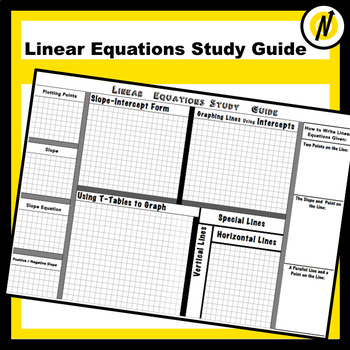 Linear Equations Study Guide Graphic Organizer