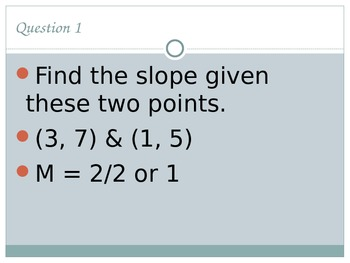 Linear Equations Test Review