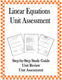 Linear Equations Unit Assessment and Practice Review
