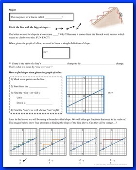 Linear Equations & Their Graphs Unit (Guided Notes and Assessments)