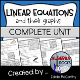 Linear Equations Unit (Graphs) - Graphing Linear Functions Guided Notes & HWs