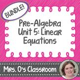 Linear Equations Unit Bundle Notes, Homework, Quizzes, Stu