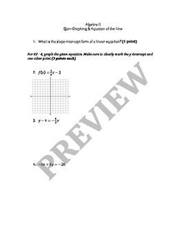Linear Equations Warm Ups / Exit Ticket / Mini Quizzes