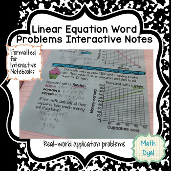 Linear Equations Word Problems Interactive Notes