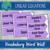Linear Equations Word Wall