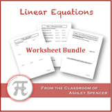 Linear Equations Worksheet Bundle
