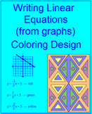 LINEAR EQUATIONS: WRITING FROM GRAPHS #2 - COLORING ACTIVITY