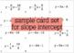 Linear Equations - a card sort