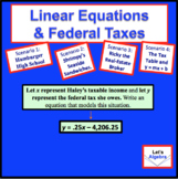 Linear Equations and Federal Taxes