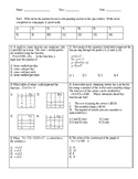 Linear Equations and Inequalities Unit Test