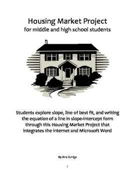 Linear Equations and Line of Best Fit Housing Market Project