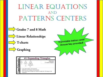 Linear Equations and Patterns Centers