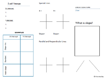 Linear Equations and Slope Brochure