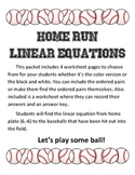 "Linear Equations and Slope in Standard Form ""Home-run Equations"""