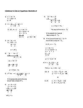 Linear Equations and Solutions