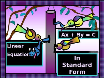 Algebra Power-Point:  Writing Linear Equations in Standard Form