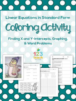 Linear Equations in Standard Form Coloring Page