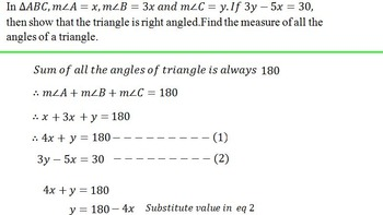 Linear Equations in Two variable (Word problems and substitution Method)