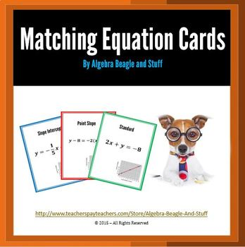 Matching Linear Equations Collaborative Cards