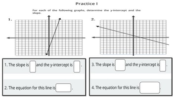 Linear Equations on a Graph - A PowerPoint Lesson and Printables!