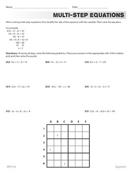 Linear Equations with Rational Number Coefficients (CCSS 8.EE.C.7b)