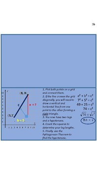 Linear Equations_Distance Between Two Points Foldable/Notes