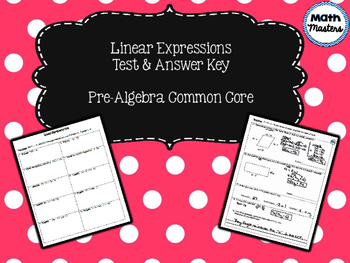 Linear Expressions Test