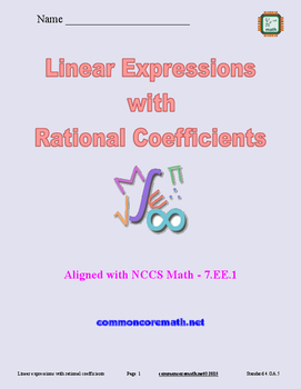 Linear Expressions with Rational Coefficients - 7.EE.1