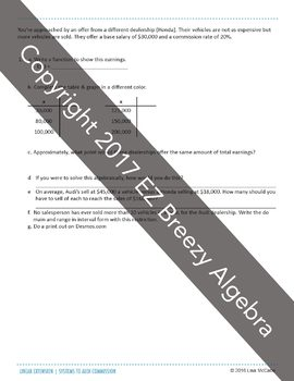 Algebra: Linear Extension - Systems and Piecewise Functions