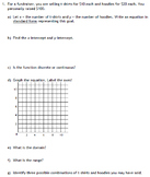Linear Function Applications (Algebra 1 or 2)