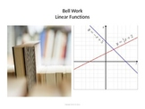 Linear Function - Bell Work