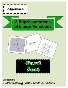 Linear Function Card Sort