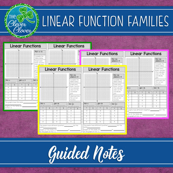 Linear Function Families - Guided Notes