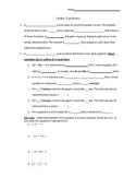Linear Function Handout