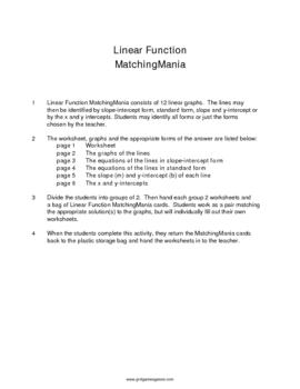 Linear Function MatchingMania